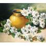 Pintura Quadro Óleo Sobre Tela Rosas Brancas