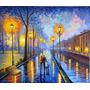 Quadro A.s.t Espatulado ( Caminho Na Chuva Em Paris )