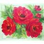 Pintura Quadro Óleo Sobre Tela Rosas Vermelhas