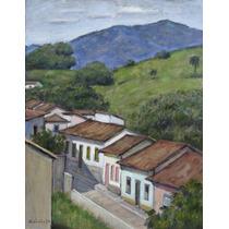 Quadro Pintura Óleo S/ Tela Paisagem 28x36cm Frete Grátis
