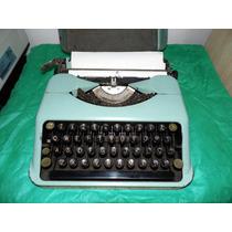 Máquina Escrever Antiga Com Mala -olivetti-remington-royal-