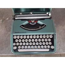 Máquina De Escrever Olivetti Lettera 82 Verde C/ Capa
