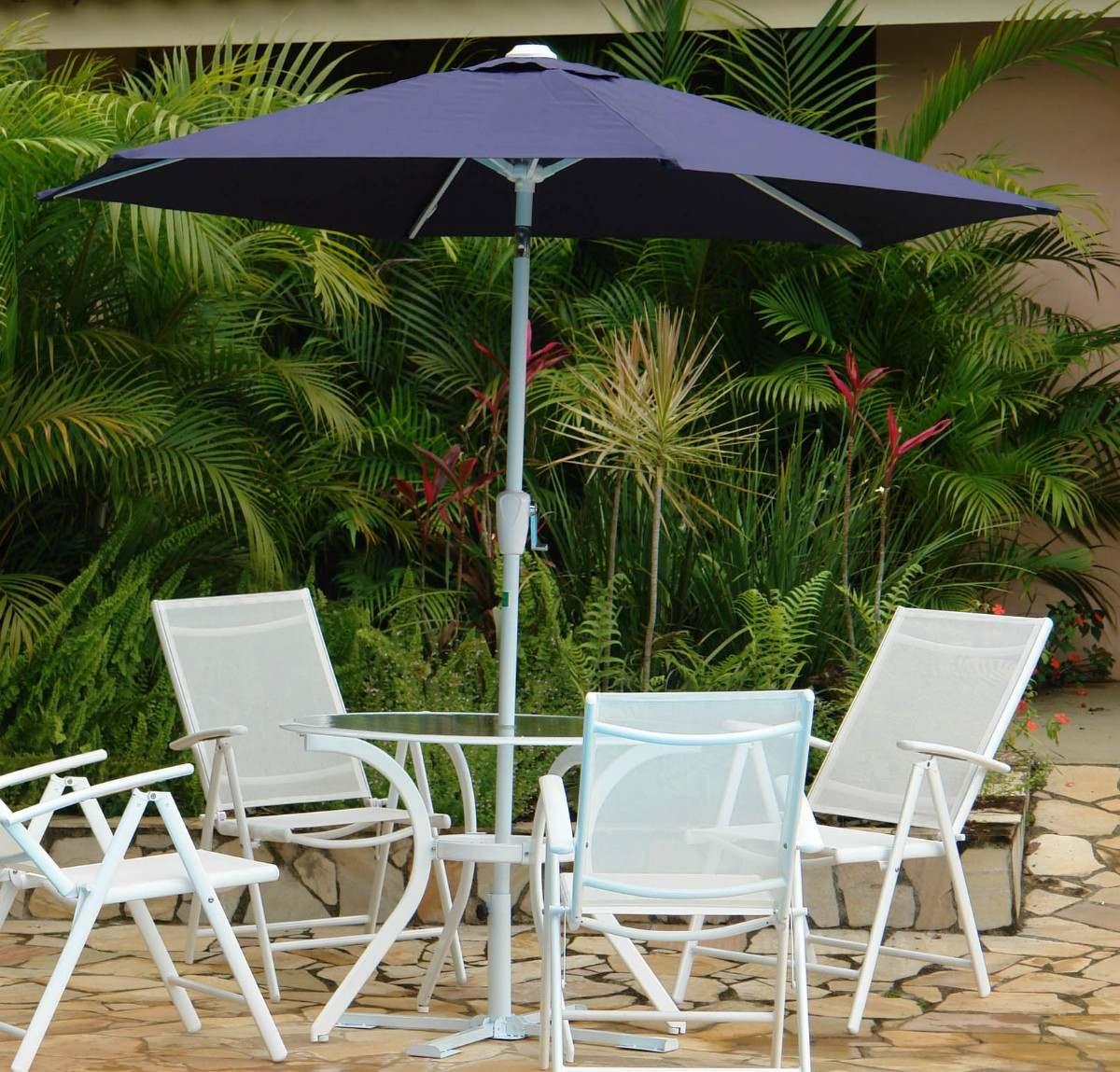 mesa jardim ombrelone:Ombrelone Milano 2,7 Mts Garden Nautika – Guarda Sol Piscina – R$ 270