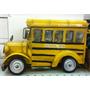 Miniatura Metal Porta Treco Micro Ônibus Escolar Americano