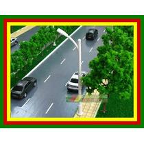 10 Postes Avenida 10mmalt C/ Lampada Ho 1:87 ~ 1:100 6v