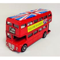 Cofre Metal Ônibus Londres Enfeite Coleção Retrô Antiguidade