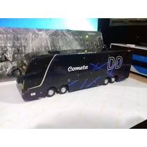 Miniatura De Ônibus Em Mdf Cometa Escala 1:50