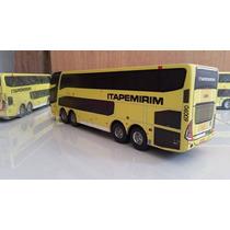 Miniatura De Ônibus Da Itapemirim Dd G7 Em Madeira