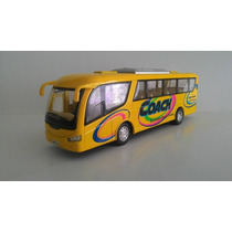 Miniatura Onibus Rodoviário Metal Abre Porta Amarelo