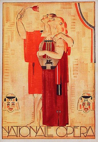 Opera Nacional Pessoas Rosa Flor Poster Repro