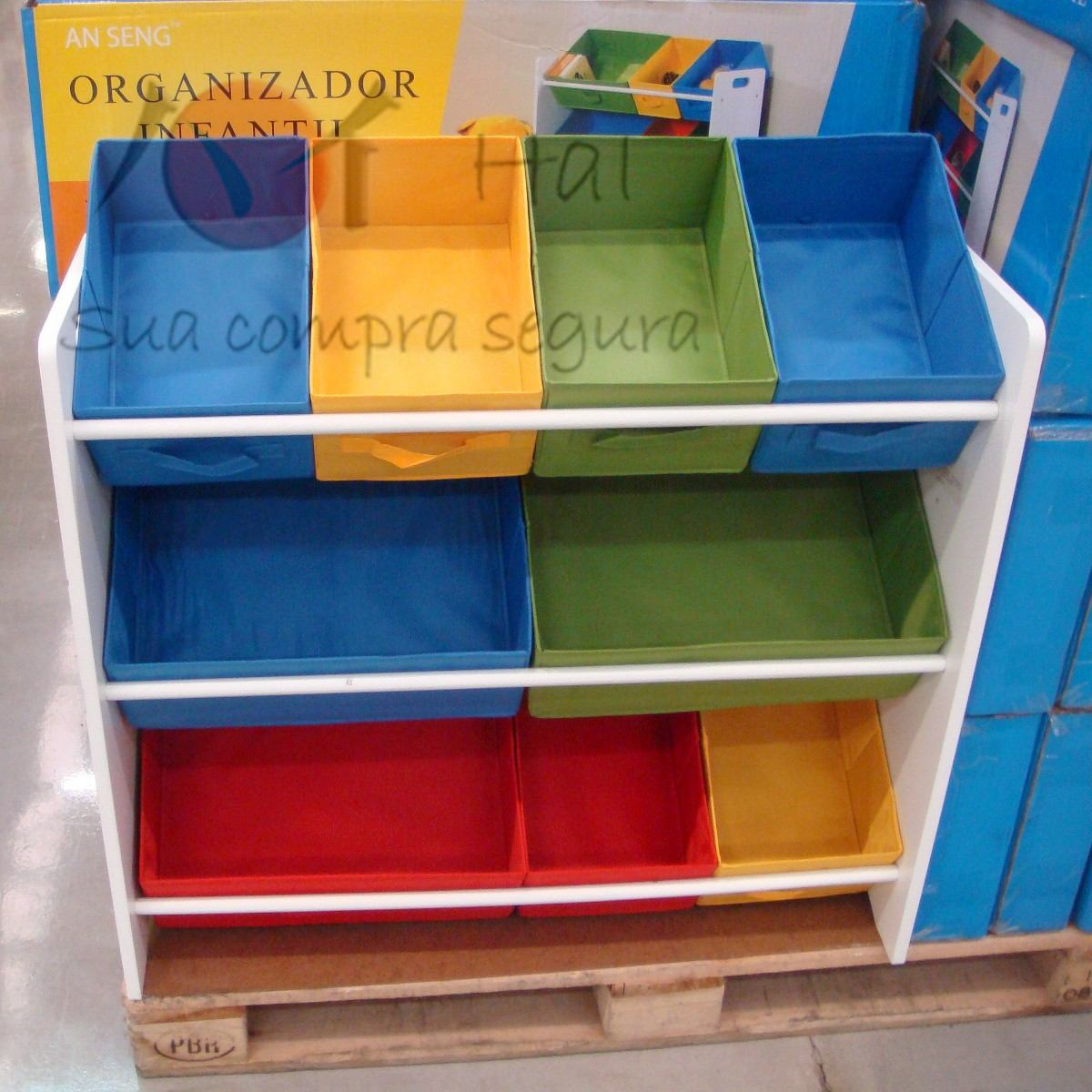 Organizador Caixa Bancada Gavetas Armario Infantil Brinquedo R$ 248  #1F75AC 1200x1200