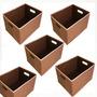 Kit 5 Pçs Caixa Multiuso Cesto Organizador Dobrável Com Alça