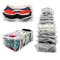 Organizador Para Gavetas De Plástico Branco - Kit