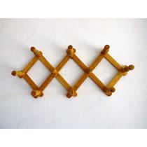 Cabides Articulado Em Madeira P/ Roupas Diversas 10 Pinos