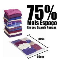 Saco À Vácuo Organizador E Protetor Roupa Cobertor 50 X 60