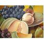 Quadro Óleo Sobre Tela Salada De Frutas Marquez Moldurado