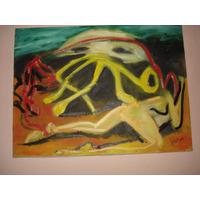 Pintura - Óleo Sobre Tela 30x40 -o Sol
