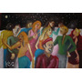 Pintura - Óleo Sobre Papel Fabriano - Pessoas Na Noite