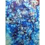 Quadro Pintura Abstrata Técnica Mista S/tela Painel 30x40cm