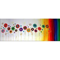Quadro/ Painel/ Tela/ Pintura Acrílica/ Decoração Flores