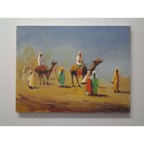 Quadro Nilo Siqueira - Cena Arabe - Oleo Sobre Tela