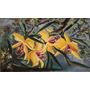 Oleo Tela - Moreira - Orquideas - 90 X 55 - Floral