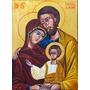 Pintura Óleo Sobre Tela Sagrada Familia Bizantino 70x50cm