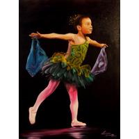 Pintura Óleo Sobre Tela A Bailarina Original 70 Cm X 50 Cm