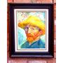 Quadro Óleo Sobre Tela - Retrato Van Gogh 30x40 Sem Moldura