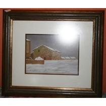 Tela-quadro-pintura Ose, Pint Breni,motivo Neve Sobre Casas