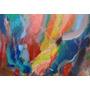 Quadro Abstrato Pintado A Tinta Acrílica
