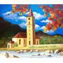 Pintura Quadro Óleo Sobre Tela A Igreja