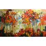 Quadro Grande 90x150 Pintura A Mão Paisagem Moderna Lindo!