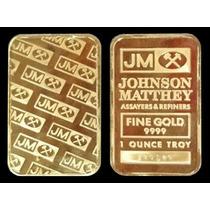 Barra Ouro 24 K 31 Gr 50x28x3mm Jm Banho Ouro 24 R$ 48,00