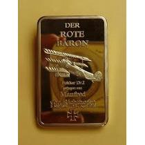 Barra Banhada Em Ouro 24k Barão Vermelho 28gr 44x28 R$ 48,0