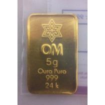 Barra De Ouro 24k Certificada 5 Gramas
