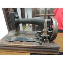 Antiga Rara Máquina De Costura Manual Clemens Muller Desdren
