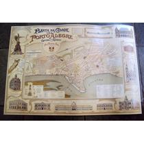 Gravura Nova (mapa Do Ano 1906) De Porto Alegre Antigo