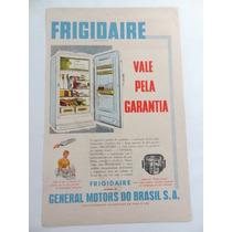 Antiga Publicidade Geladeira Frigidaire Anos 50!!! Cozinha