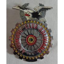 Escudo Placa Carro Emblema Automovel Club Do Brasil Antiga