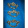 3 Antigos Puxadores De Bronze De Gaveta