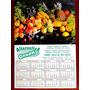 3 Folhinhas Calendário 53 X 36 1993 2000 Tema Frutas Legumes