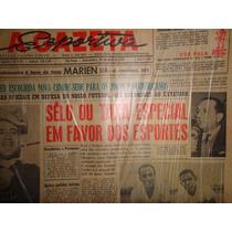 Gazeta Esportiva Jornal 9654 Selo Taxa Especial Para Esporte