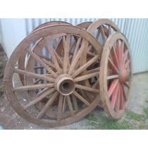 Pacote Com 6 Rodas De Carroça Antiga!