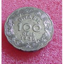 Moeda 100 Reis - De 1938 Brasil - Bom Estado