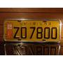 Antiga Placa Automotiva Amarela Sp - Zo 7800