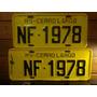 Antiga Placa Automotiva Par Amarela Rs - Nf 1978