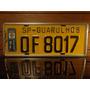 Antiga Placa Automotiva Amarela Sp - Of 8017