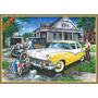 21667 - Placa Decorativa - Ford Antigo Pintura 3 Gerações