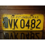 Antiga Placa Automotiva Sp - Vk 0482